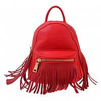 Сумка-рюкзак женский красный с бахромой , 19,5*17*13 554185