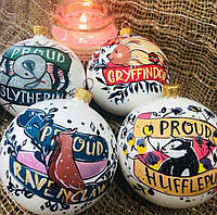 Оригинальные Новогодние игрушки на ёлку в стиле Гарри Поттера (ручная роспись)
