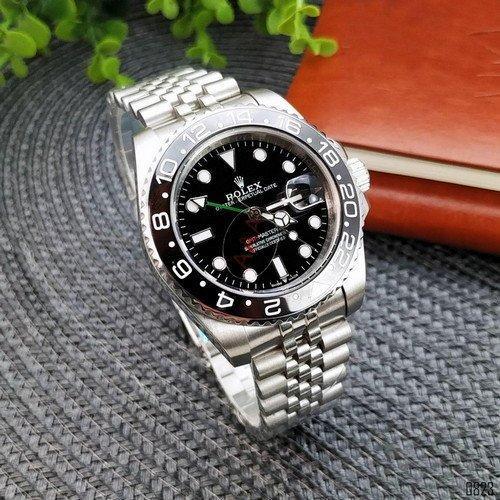 Rolex GMT (Silver-Black)