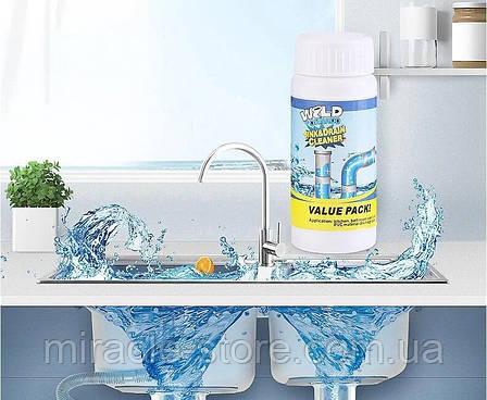 Чистящее средство для труб и раковин - мощный очиститель мойки и слива WILD Tornado Sink & Drain Cleaner, фото 2
