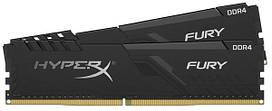 Оперативна пам'ять Kingston DDR4 2x16GB 2666MHz HyperX Fury (HX426C16FB4K2/32) Black