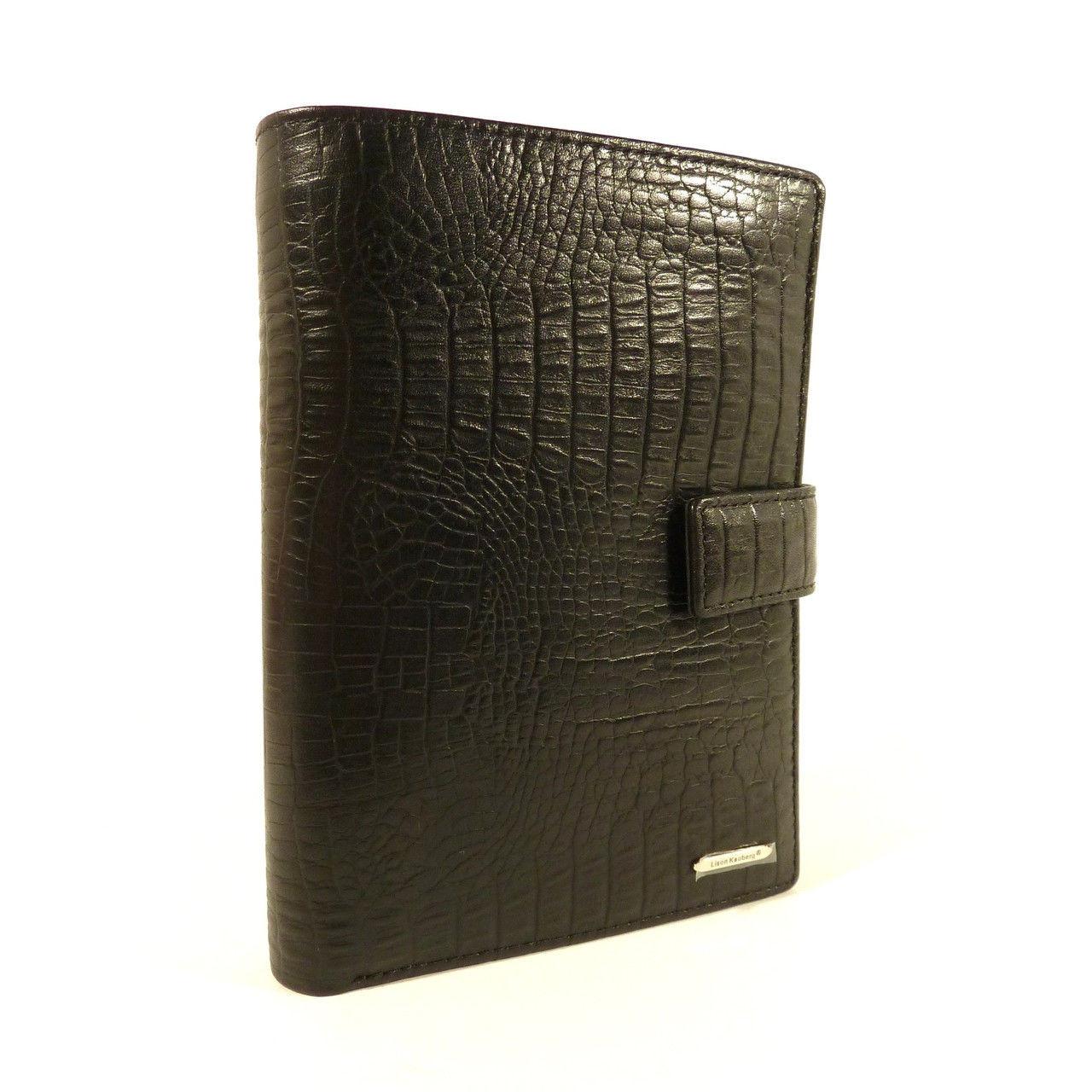 Кошелек кожаный обложка для документов черный Lison Kaoberg 35004