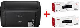 Принтер Canon i-SENSYS LBP6030B + Картриджі 725 2шт.