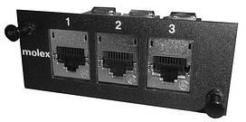 Модуль Molex 3xModule DG STP adapter plate, Unloaded, Black
