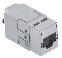 Модуль Molex Data Gate+ Module 1xRJ45 STP, 568A/B, PowerCat 6A, Black