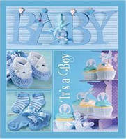 Фотоальбом EVG 10x15x56 BKM4656 Baby collage Blue