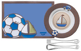 Набор детский Tramontina BABY Le Petit Blue, 4 предмета