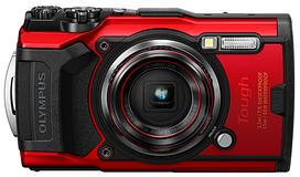 Цифрова камера Olympus TG-6 Red (Waterproof - 15m; GPS; 4K; Wi-Fi)