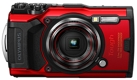 Цифровая камера Olympus TG-6 Red (Waterproof - 15m; GPS; 4K; Wi-Fi)