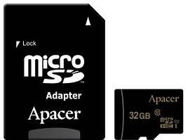 Карта памяти Apacer microSDHC 32GB UHS-I U1 Class 10 (AP32GMCSH10U1-R) + SD адаптер