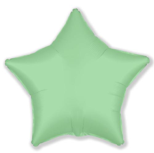 """Кулька 18"""" зірка фольгована, мята, нью ментол ТМ """"Агура"""" однотонний сатин шт."""