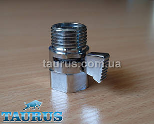 """Прямой компактный Micro кран Eco (Польша, 1/2"""" хром) для скрытого подключения полотенцесушителей"""
