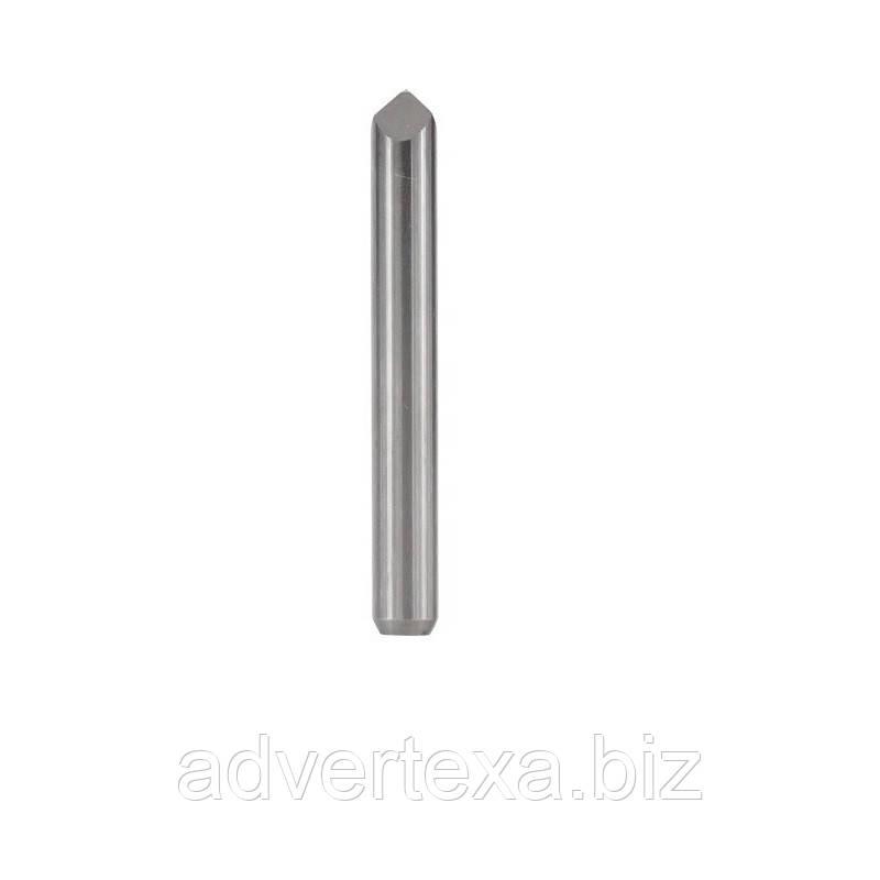 Фреза 0.1 мм 90 градусів, піраміда, 3.175 мм з вольфрамової сталі з загальною довжиною 31.5 мм для гравіювання на ЧПУ