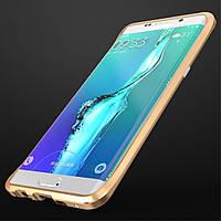 Чехол бампер металл Luphie Rapier Series для Samsung Galaxy S6 Edge+ G928 золотой