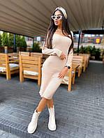 Стильное женское платье с вырезом