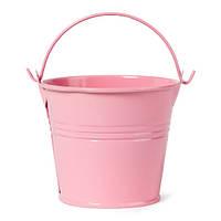 Ведро декор.оцинковка  среднее   (h 6см) розовое