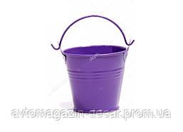 Ведро декор.оцинковка  среднее   (h 6см) фиолетовый