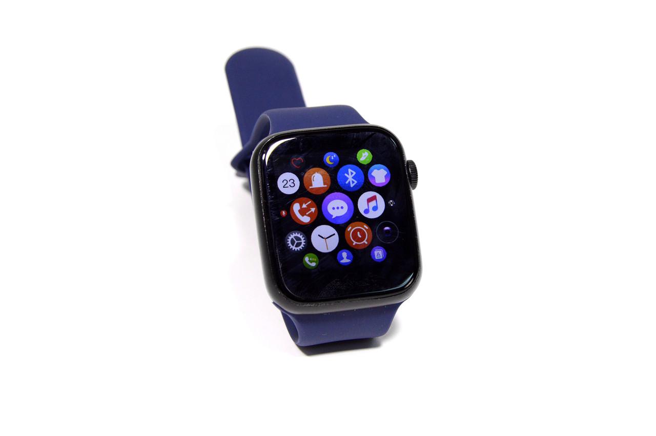 Умные часы Smart Watch T500 (фитнес-браслет, смарт часы) синие