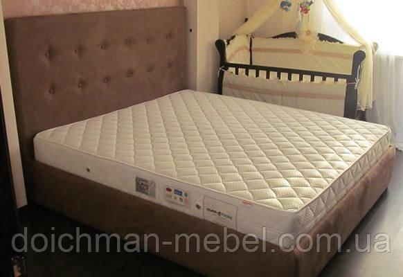 купить двуспальные кровати с мягким изголовьем мягкая мебель для