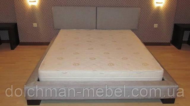 """Двуспальная кровать """"Джек"""" с подиумом и мягким изголовьем от производителя в Украине"""