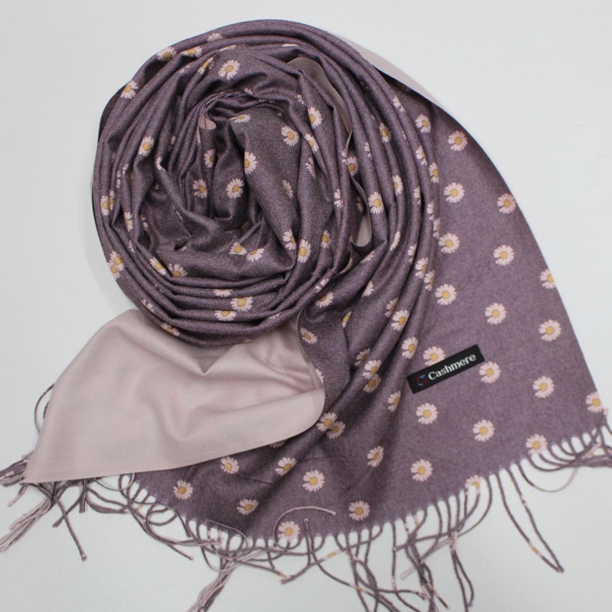 """Кашеміровий двосторонній шарф палантин """"Інеса"""" Cashmere 103009"""