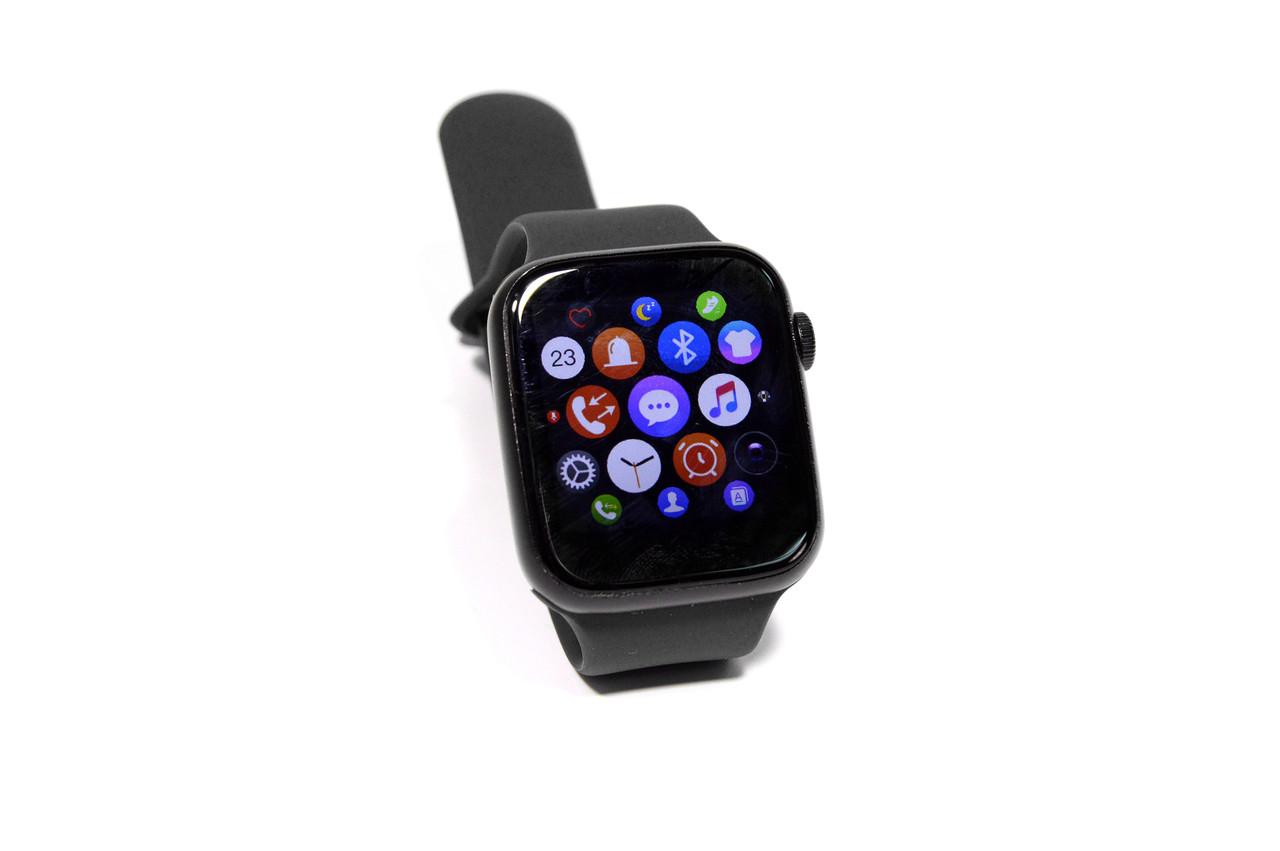 Умные часы Smart Watch T500  (фитнес-браслет, смарт часы) черные