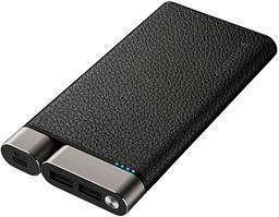 Портативное зарядное устройство Puridea X01 10000mAh Li-Pol +TYPE-C Leather Black