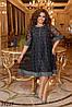 Нарядное гипюровое платье свободного кроя с люрексом с 50 по 60 размер