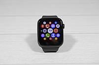 Наручные смарт часы Smart Watch T500 (умные часы с подключением к телефону) чёрные, фото 3