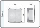 Блок-фара задня Wesem LT1.06727 4-х функціональна 98x103x50 мм, фото 5