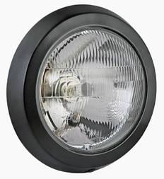 Фара головного світла Ø 232 мм Wesem 0215.44101 кругла, в металічному корпусі, з габаритом