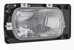 Фара головного світла 246 Х 136 мм Wesem 0261.43065 галогенова права з габаритом і ручним коректором