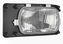 Фара головного світла 246 Х 136 мм Wesem 0261.43066 галогенова ліва з габаритом і ручним коректором