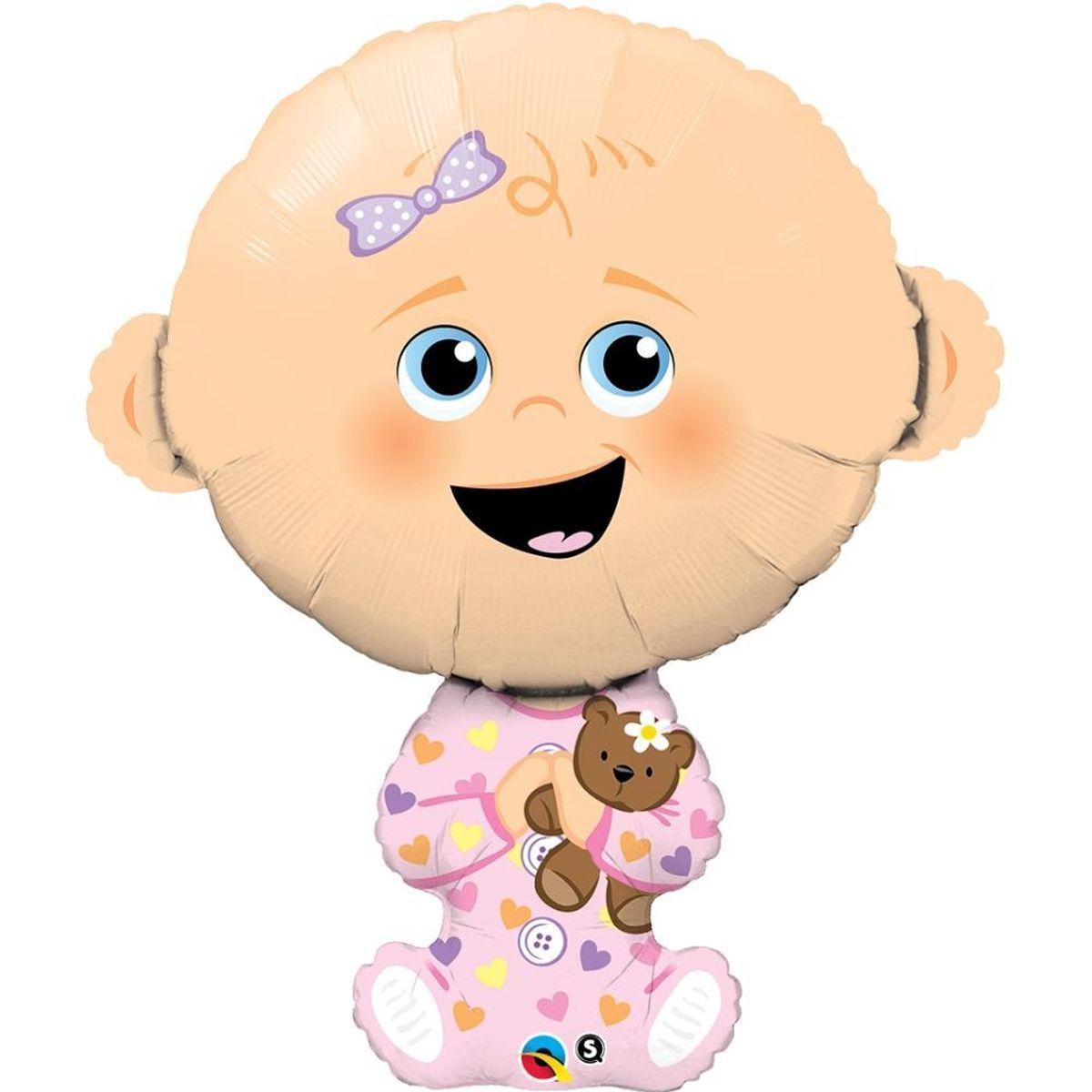 """Кулька 36"""" фігура фольгована на виписку для дівчинки """"Малюк"""" УП шт."""