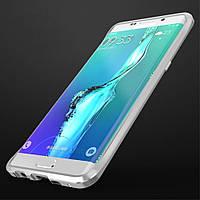 Чехол бампер металл Luphie Rapier Series для Samsung Galaxy S6 Edge+ G928 серебро