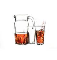 Набор кувшин и 6 стаканов Karat 97045