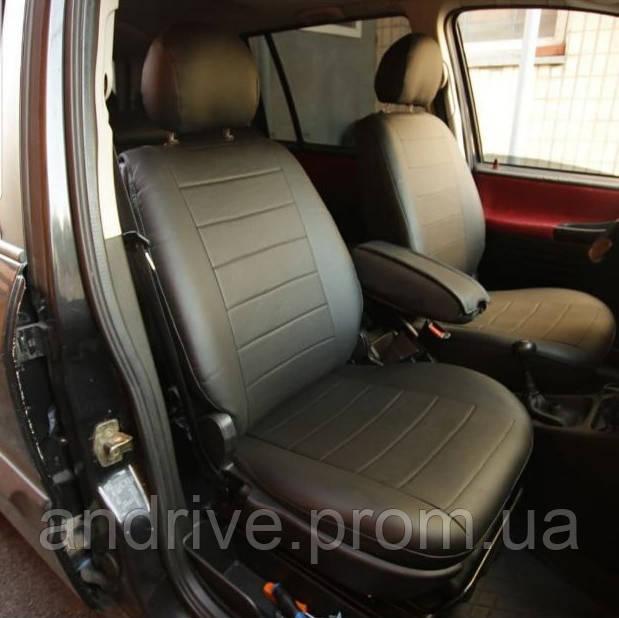 Авточехлы Audi 80 (В3) 1986-1991 (Экокожа) Чехлы в салон Черные