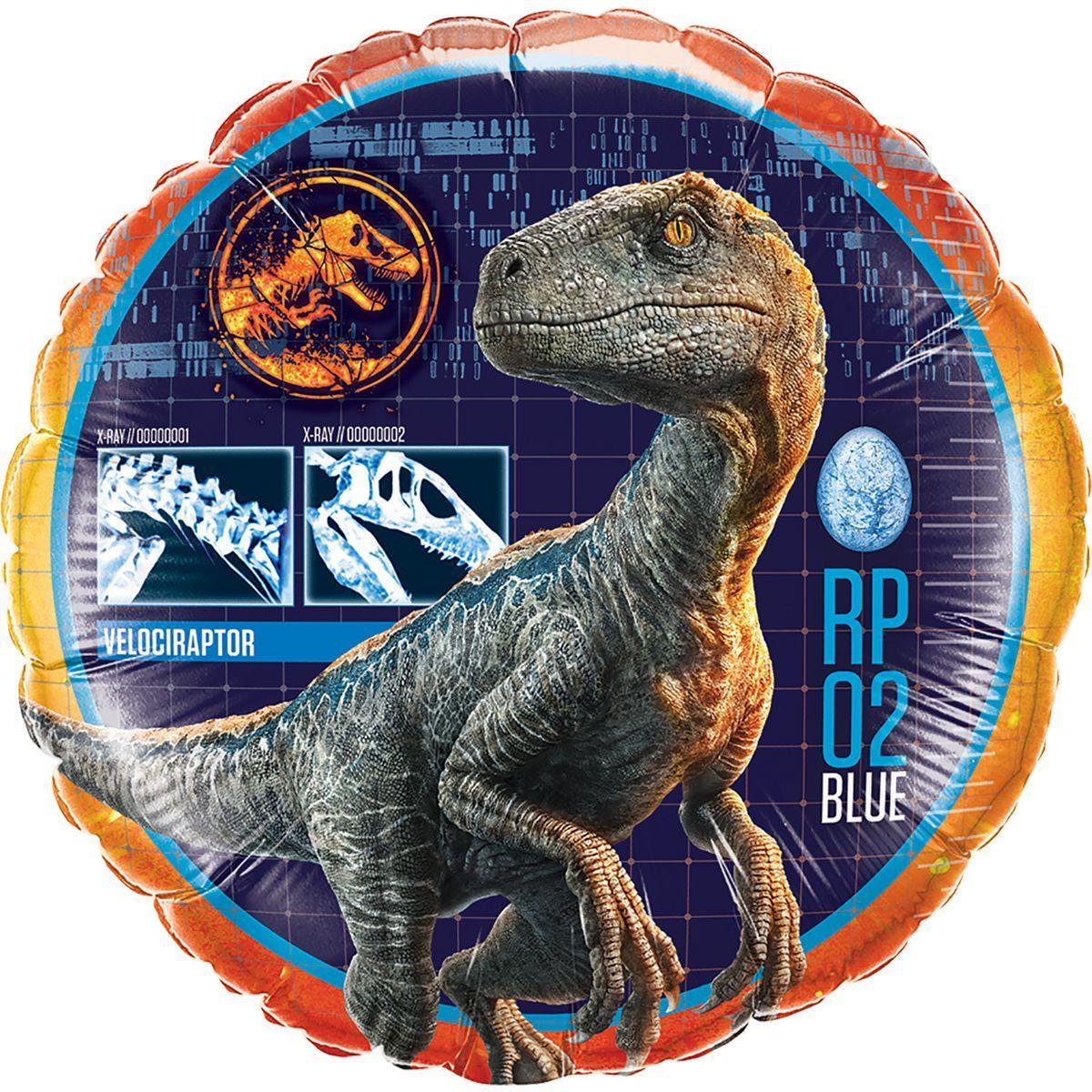 """Кулька 18"""" круг фольгована """"Динозавр, раптор"""" малюнок УП шт."""