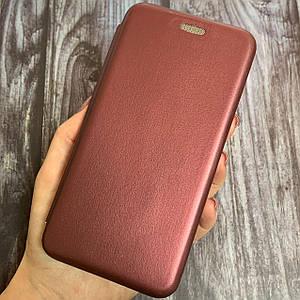 Чехол книжка с магнитом для Meizu M5 эко кожа подставка чехол книга на мейзу м5 бордовая