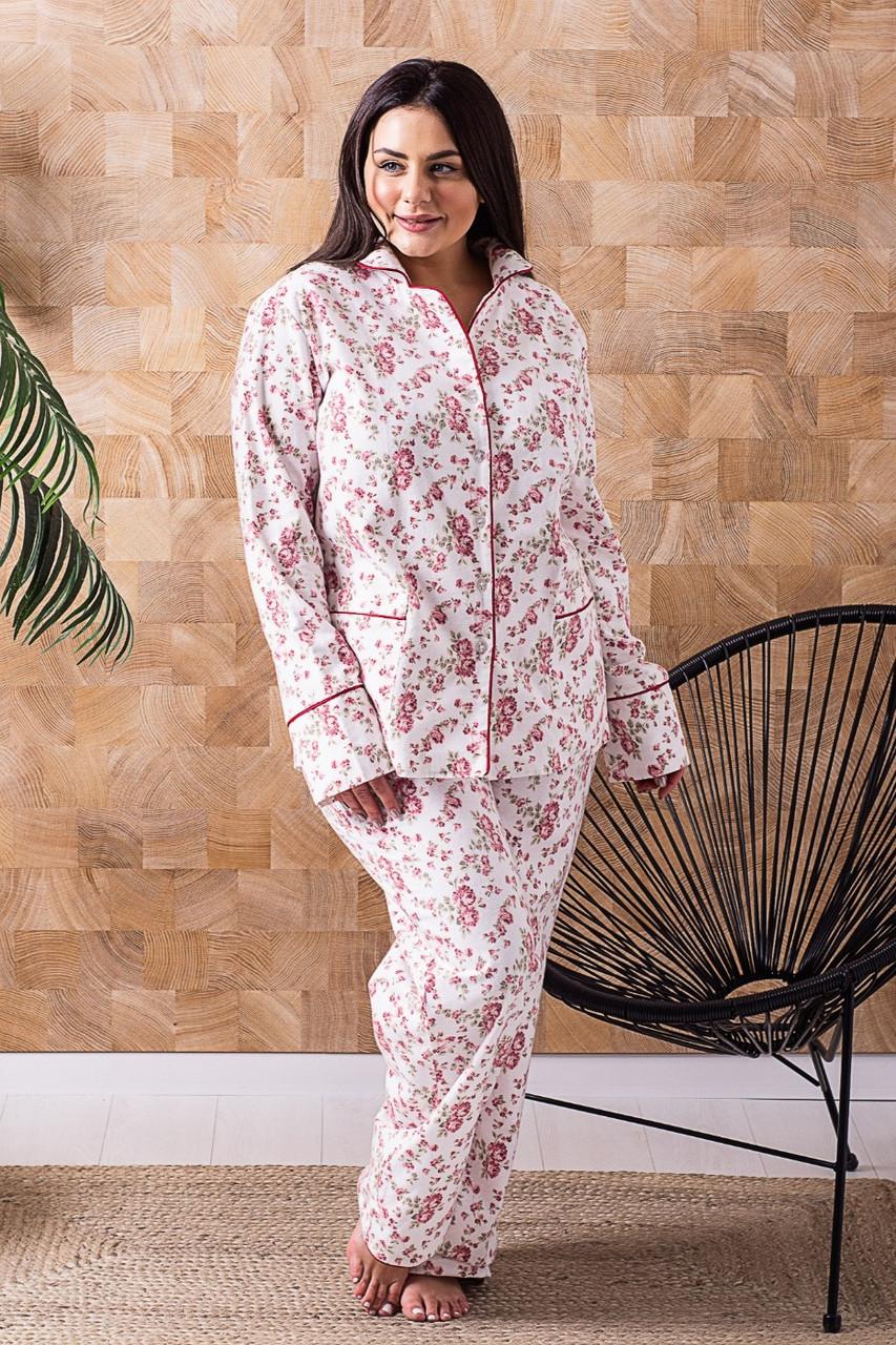 Пижама брючная П1020 Розы XL (48-50)