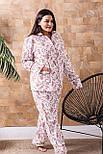 Пижама брючная П1020 Розы XL (48-50), фото 2