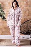 Пижама брючная П1020 Розы XL (48-50), фото 3