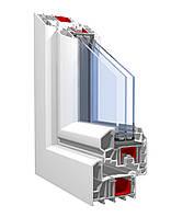 Окно из профиля KBE-88 (6 камерный) 1,3х1,4 стандартное, стеклопакет 2-х кам с энергосбереж