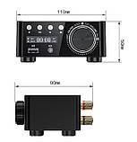 HIFI Bluetooth 5.0 Цифровий підсилювач звуку TPA3116D2 50WX2 Стерео Домашній кінотеатр USB TF В корпусі, фото 4