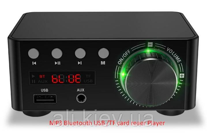 HIFI Bluetooth 5.0 Цифровий підсилювач звуку TPA3116D2 50WX2 Стерео Домашній кінотеатр USB TF В корпусі