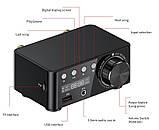 HIFI Bluetooth 5.0 Цифровий підсилювач звуку TPA3116D2 50WX2 Стерео Домашній кінотеатр USB TF В корпусі, фото 3