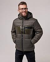 Мужская стильная короткая куртка, хаки
