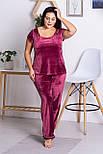 Женская пижама из плюш-велюра П1311 Бордо, фото 4