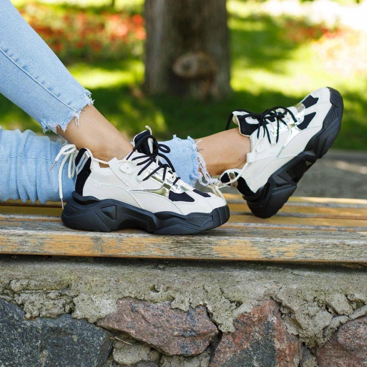 Женские кроссовки на толстой подошве (Замеры предоставляем)