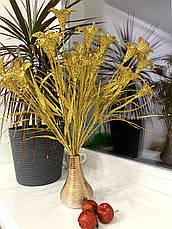 Декоративний букет золотих лілій. Лілії в золотому глиттере ( 40 см ), фото 3